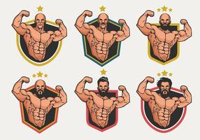 Flexing Logo Badge Vector Collection