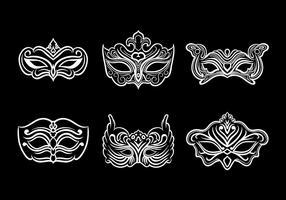 Máscara Mascarada Ícones Vector