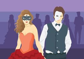 Masquerade Ball Vector Bakgrund