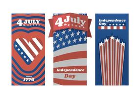 Red White and Blue Independence Day Poster Vektorer
