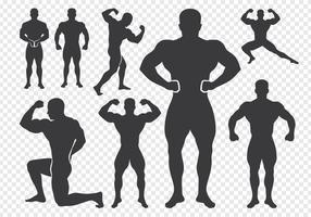 Silueta del vector del Bodybuilder