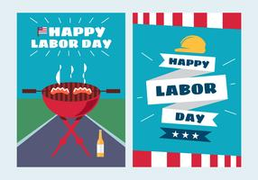 Vettori di poster Labor Day