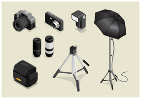 Gratis Isometric Photography Vector