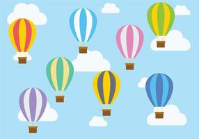 Hot Air Balloon Ikon Vector