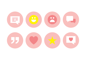 Testimonios Icon Set