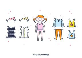 Papier Doll Vector Set