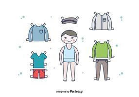Gratis Paper Doll Boy Vector