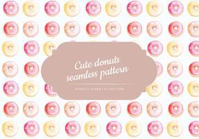 Vektor Hand gezeichnet Donuts Pattern