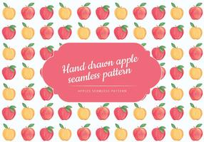 Vector mano dibujó patrón de manzanas sin fisuras