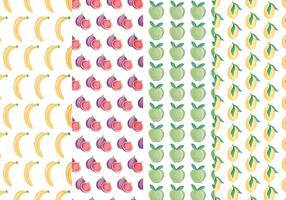 Vector Patterns de fruits colorés