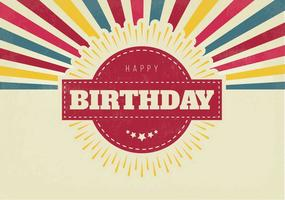 Ilustração retro colorida do feliz aniversario