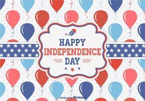 Tarjeta feliz del vector de la celebración del Día de la Independencia