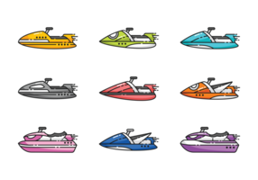 Water Jet Ski Vectors