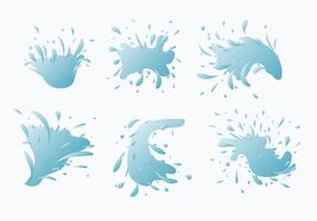 Vatten Jet Splash Vector Collection