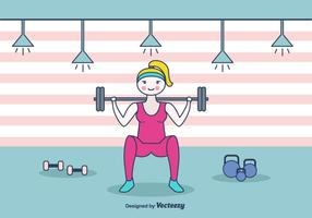 Squat Workout Vector Background