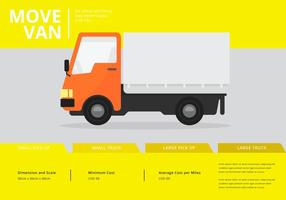 Moving Van or Truck. Transport or Delivery Illustration.