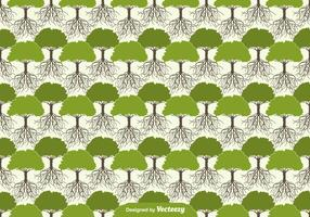 Albero con radici Seamless Pattern