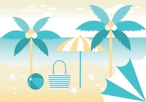 Free Summer Vacation Vector Greeting Card