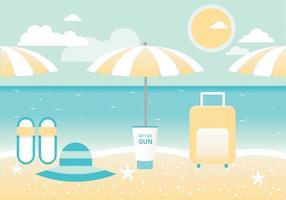 Free Summer Landscape Vector Greeting Card