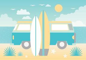 Cartolina d'auguri di vettore di paradiso estivo gratuito