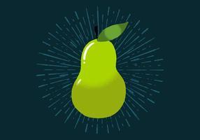 Strahlende Birne