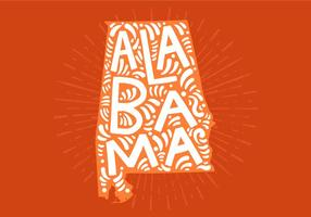 Alabama estado lettering