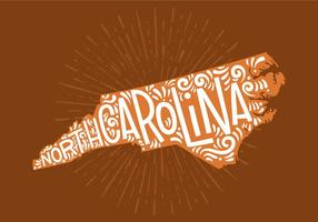 North Carolina State Lettering