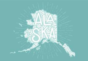 Lettering dello stato dell'Alaska