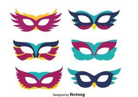 Vetores máscaras agradáveis da mascarada