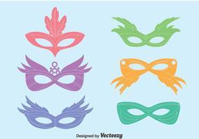 Vecteurs de masque de mascarade colorés
