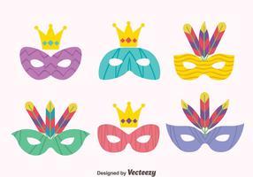 Große Masquerade Masken Vektoren