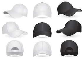 Vektor Mockup Mallar på mössa och hatt