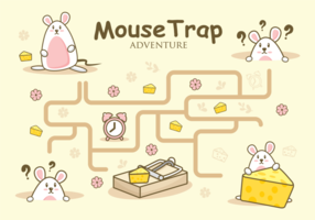 Mouse Trap Adventure Illustration vector