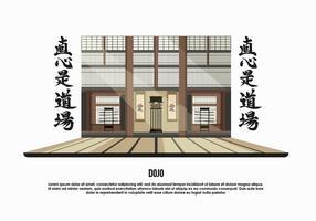Dojo Zimmer Hintergrund Vektor-Illustration