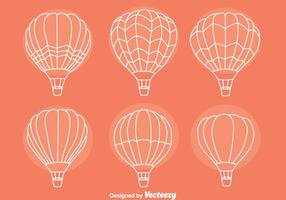 Schets Hot Air Balloon Collectie Vectoren