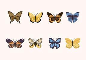 Vecteurs papillons plats