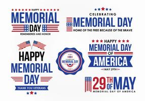 Memorial Day Vector Design Elemento