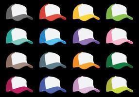 Iconos del vector del sombrero del camionero