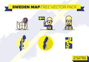 Sweden Map Free Vector Pack