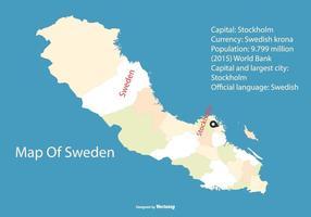 Retro Karte von Schweden