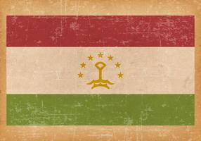 Grunge Flagga av Tadzjikistan