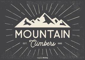Retro Typografische Mountian Climbers Illustratie