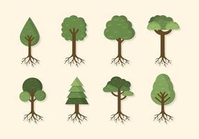 Vectores de árbol plano