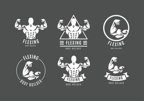 Flexing Logo Gratis Vector