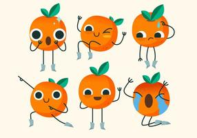 Clementine Cute Character Pose Vector Illustration