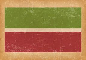 Grunge Flagga av Tatarstan