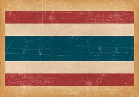 Grunge Flag of Thailand vector