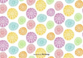 Vector Colorful Flowers Pattern
