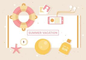 Free Flat Vector Summer Elements