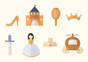 Vetores de princesa plana